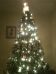 Christmas tree with twinkling lights