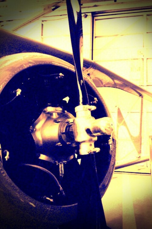 Old air plane propeller in the KLBE Museum in Latrobe, PA