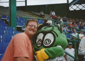 Man and Mascot Pickle