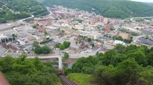 View of Johnstown, PA from the Inclined Plane on the 127th Anniversary of the Great Johnstown Flood.