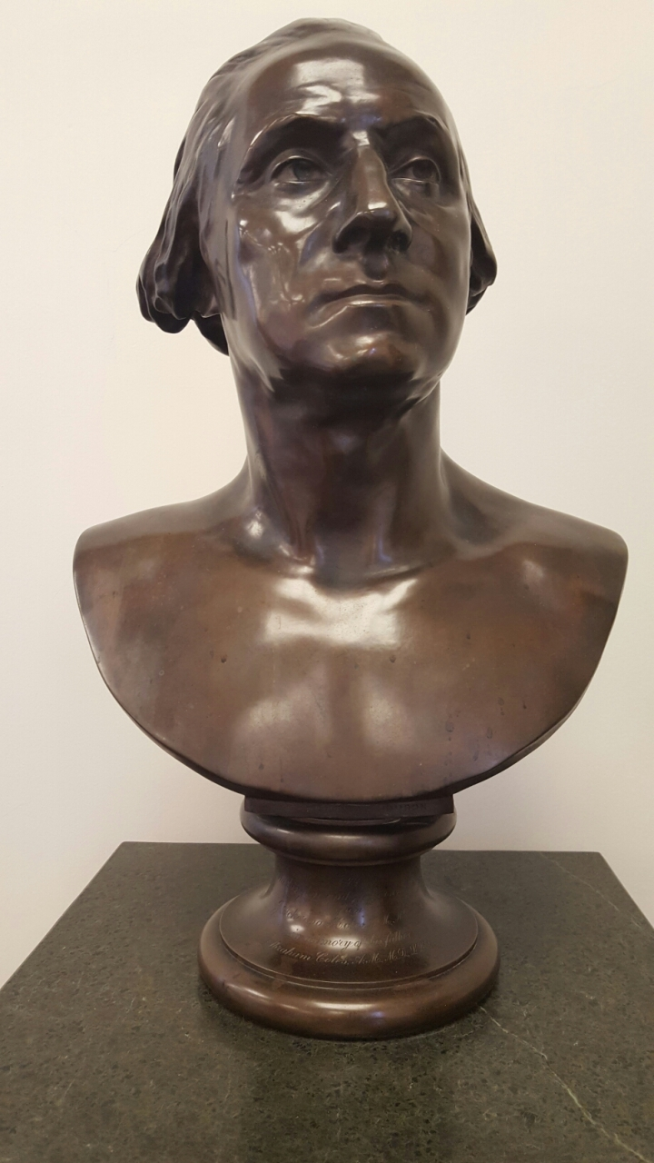 Bust of George Washington in W&J College's library